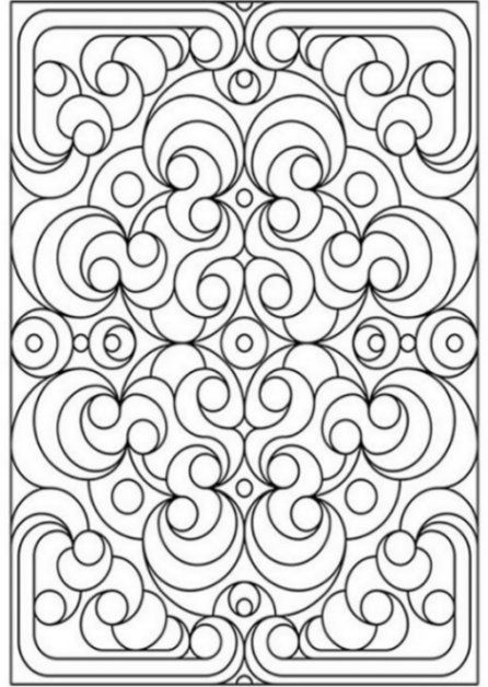 Geometric Patterns Coloring Pages For Kids
