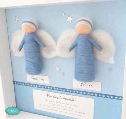 geschenk f r eineiige zwillinge geschenk f r zwillinge zur geburt schutzengel bild f r. Black Bedroom Furniture Sets. Home Design Ideas