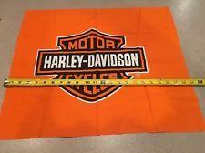 Orange Bar and Shield Logo HARLEY DAVIDSON Quilt Fabric 19
