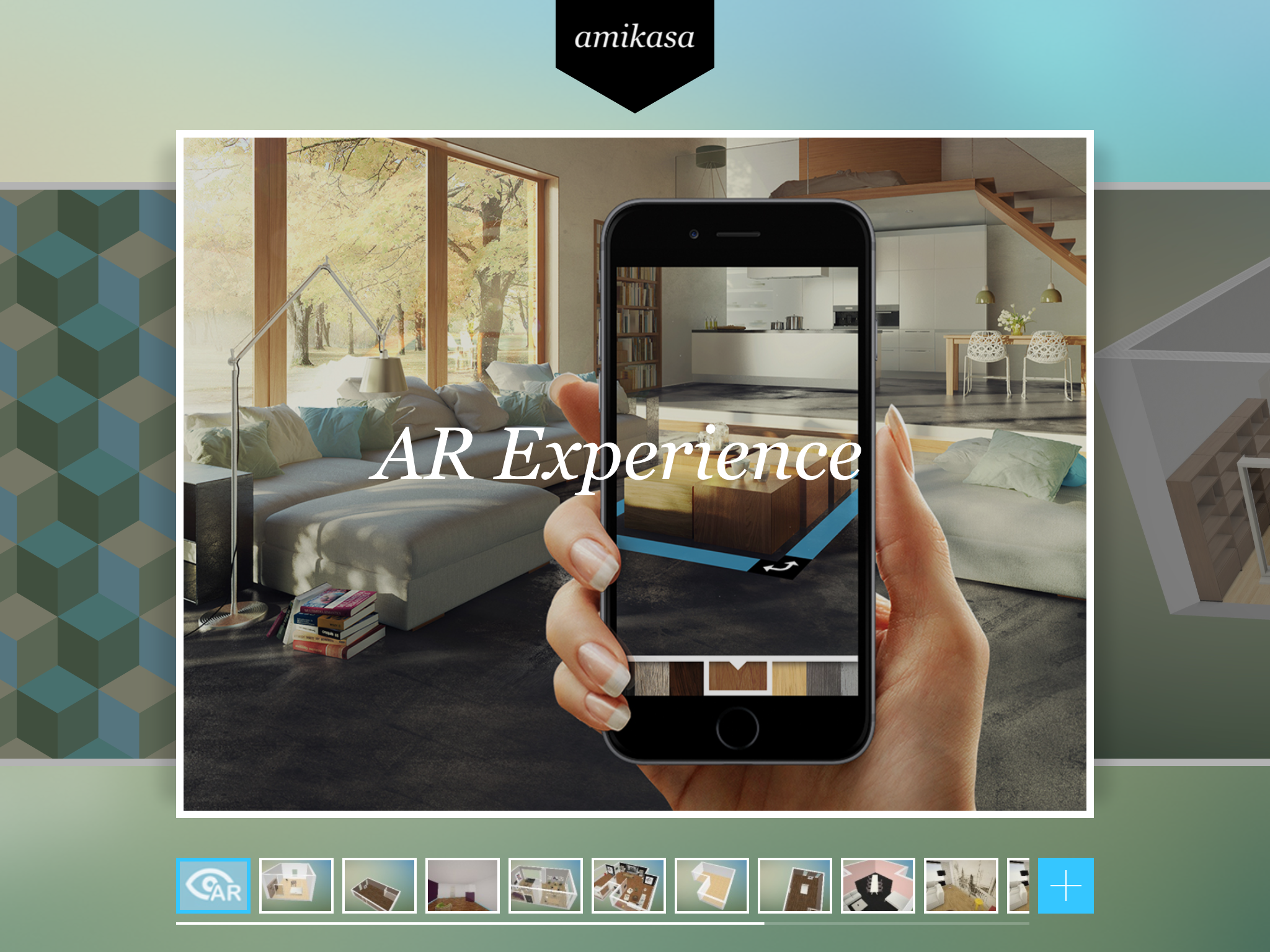 Try our amazing AR experience, visualizing your furniture right within Amikasa.