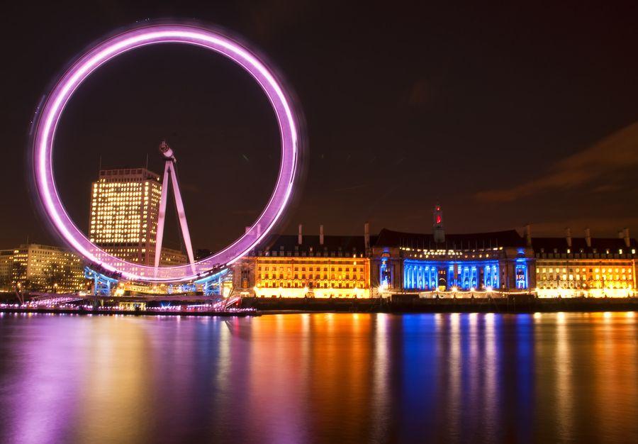london London icons, London, Neon clock