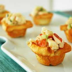 Lobster Salad in Crescent Cups