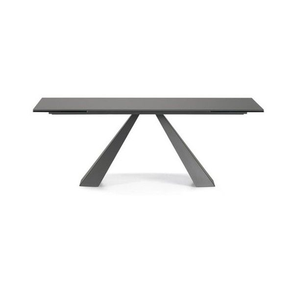 Cattelan Italia Eliot Drive Frosted Glass Dining Table 63 93 Inch