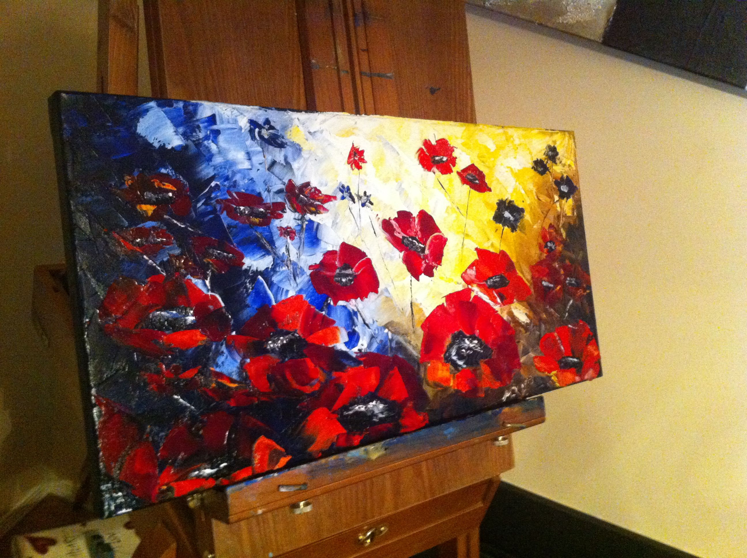 Palette knife painting by M.K. Harrigan Artistic Vision