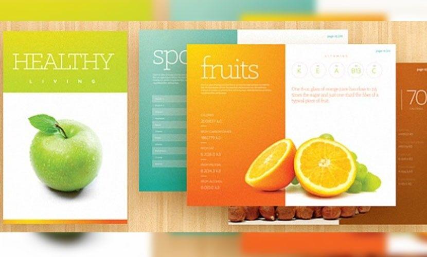 Trípticos online, 30 plantillas de folletos GRATIS para Photoshop - diabetes brochure template
