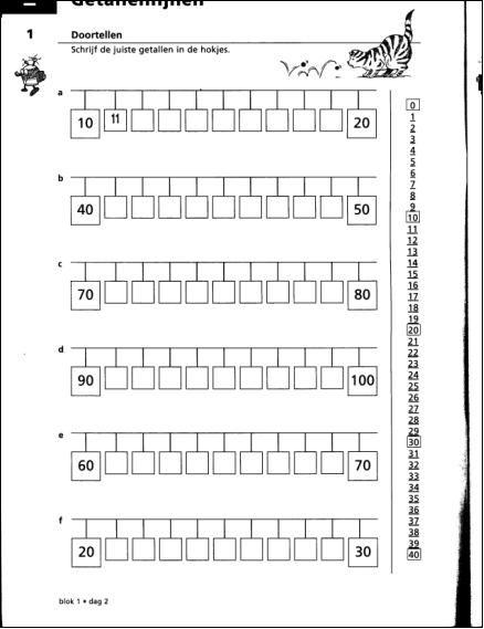 Spiksplinternieuw getallenlijn tot 100 - Google zoeken (met afbeeldingen PZ-32