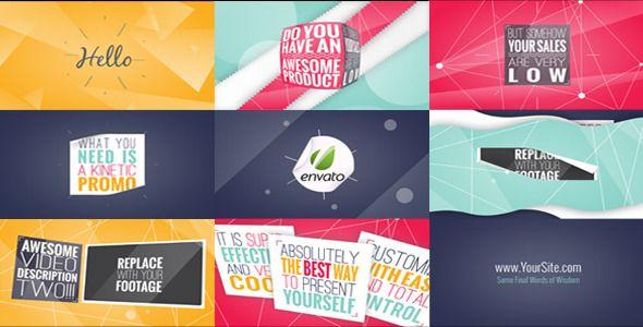 kinetic typography promo typography