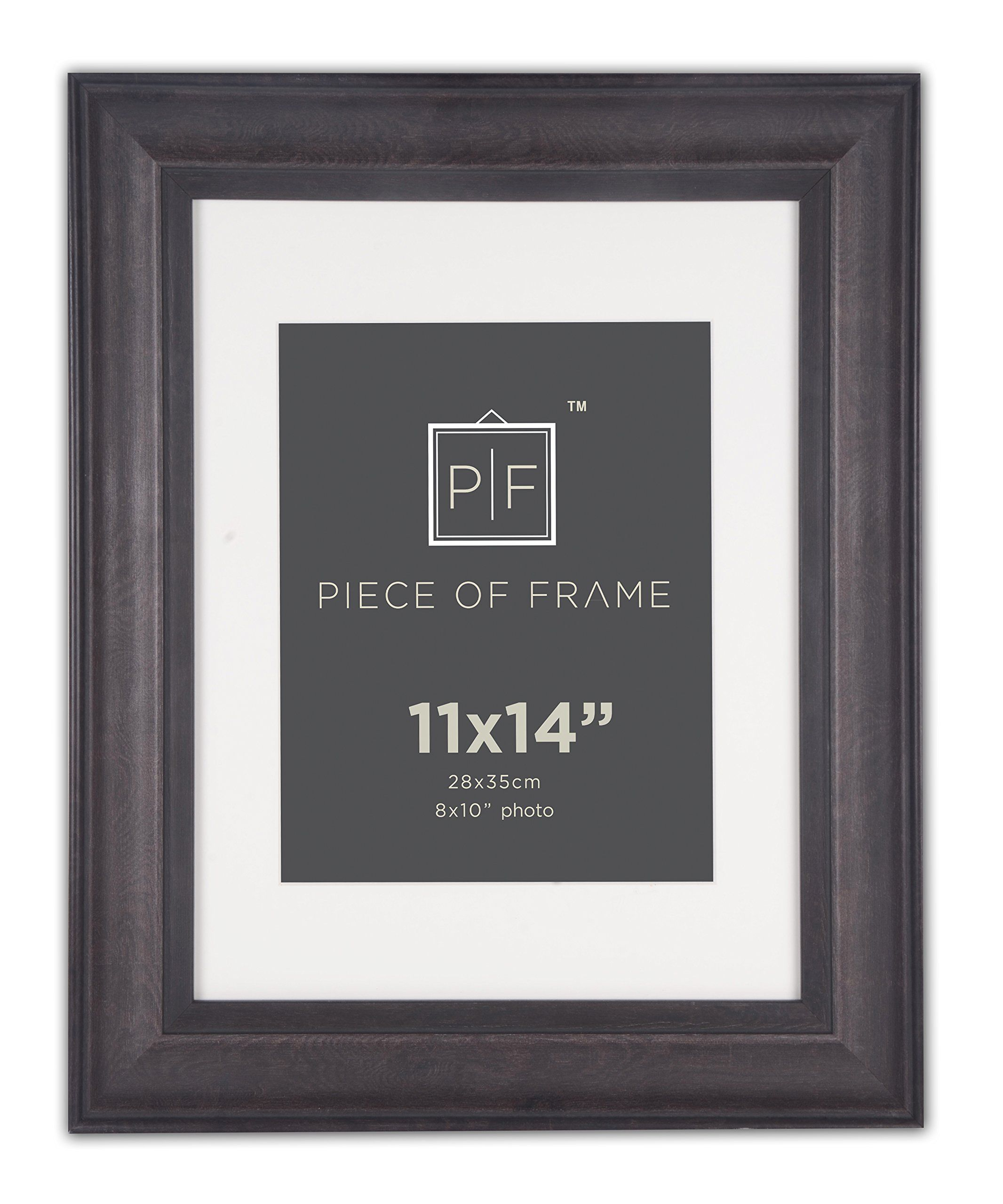 Golden State Art 11x14 Photo Frame 2inch Dark Wood Grain Finish Photo Frame With Black Border With Ivory Mat Picture Frame Designs Frame Picture Frame Gallery