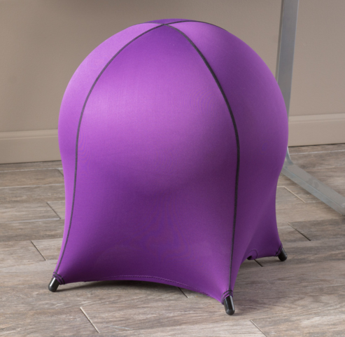 Stability ball office chair Purple seat without backrest