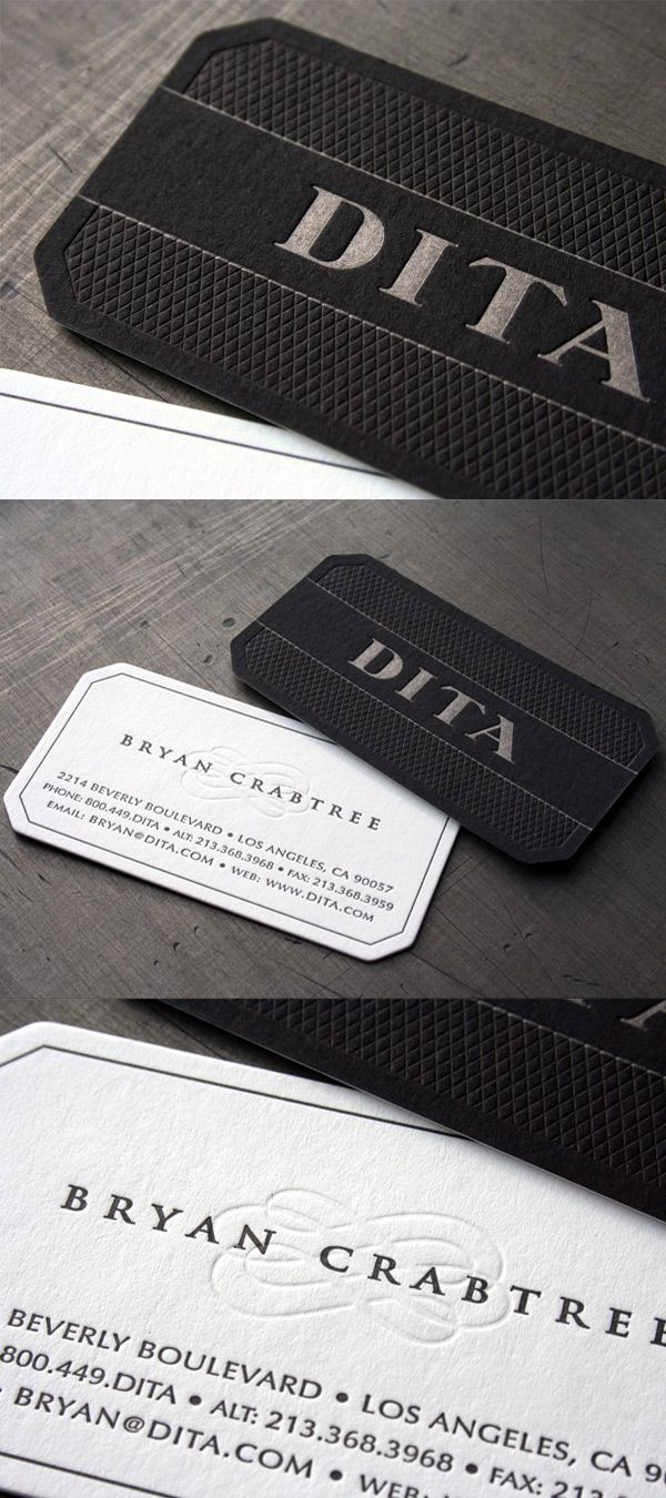 Dita eyewear39s sophisticated business card business card for Sophisticated business cards