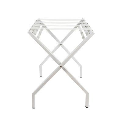 Innit Suba Vinyl Luggage Rack Finish: White, Color: Clear