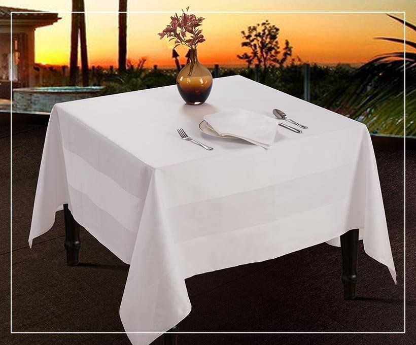Customized Hotel Bathrobe Table Cloth Table Linens Cotton Stains