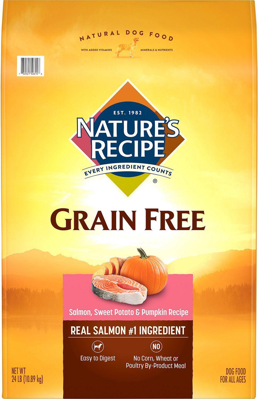 Nature S Recipe Grain Free Salmon Sweet Potato Pumpkin Recipe Dry Dog Food 24 Lb Bag Chewy Com Sweet Potato Pumpkin Recipe Dry Dog Food Dog Food Recipes