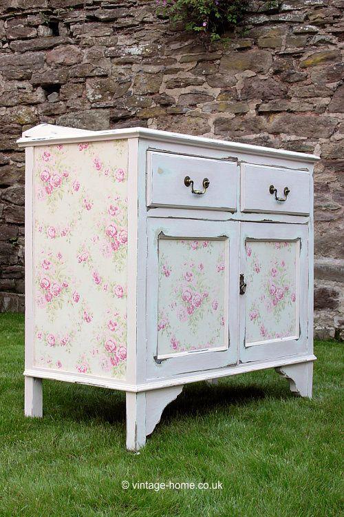 vintage home pink rose garland painted cupboard cottages rh pinterest com