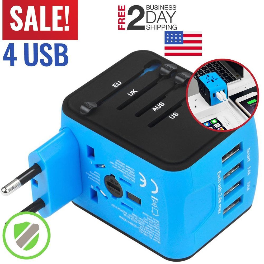 Travel Adapter Universal International Power European Outlet Plug EU to US to EU