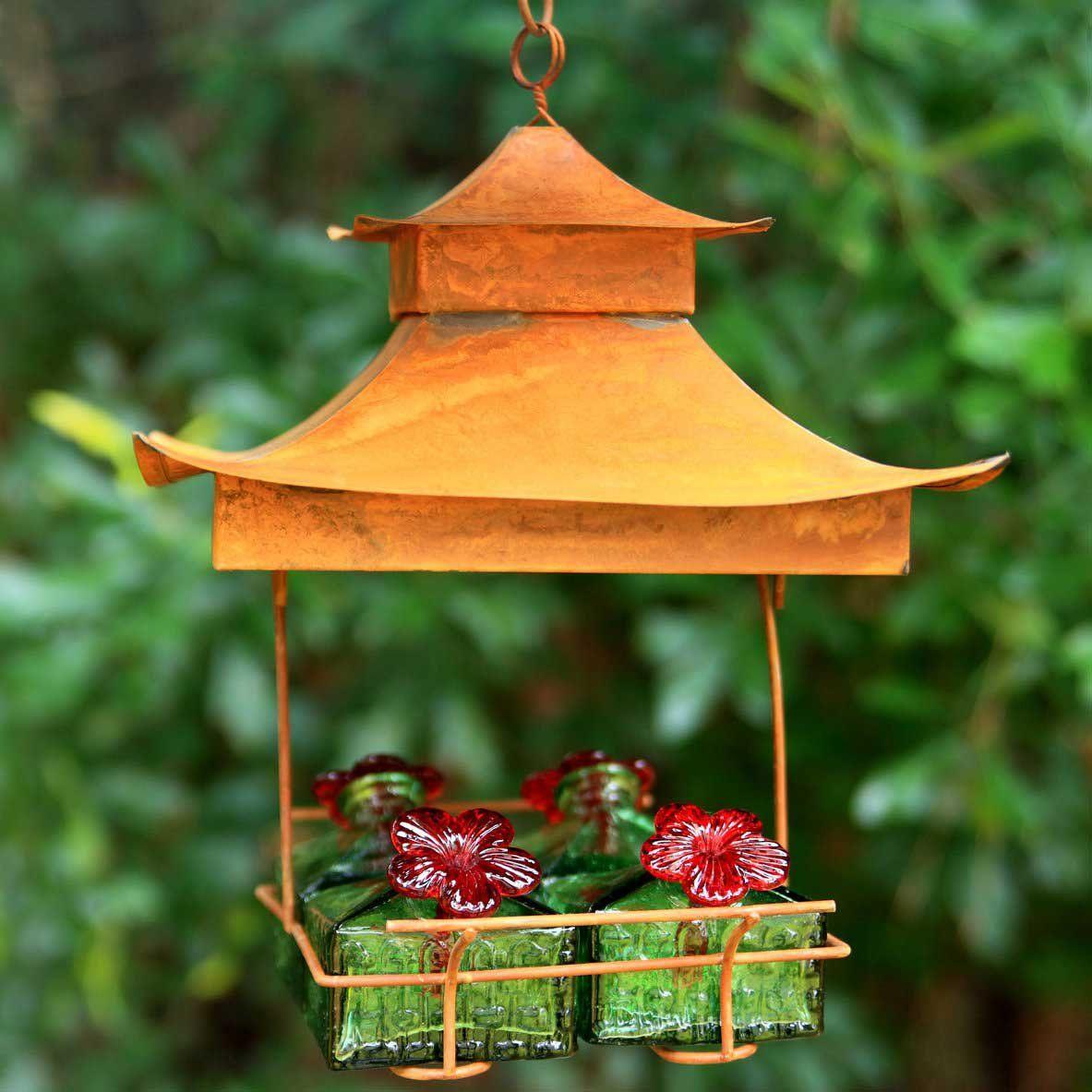 Pagoda Hummingbird Feeder Humming bird feeders, Bird