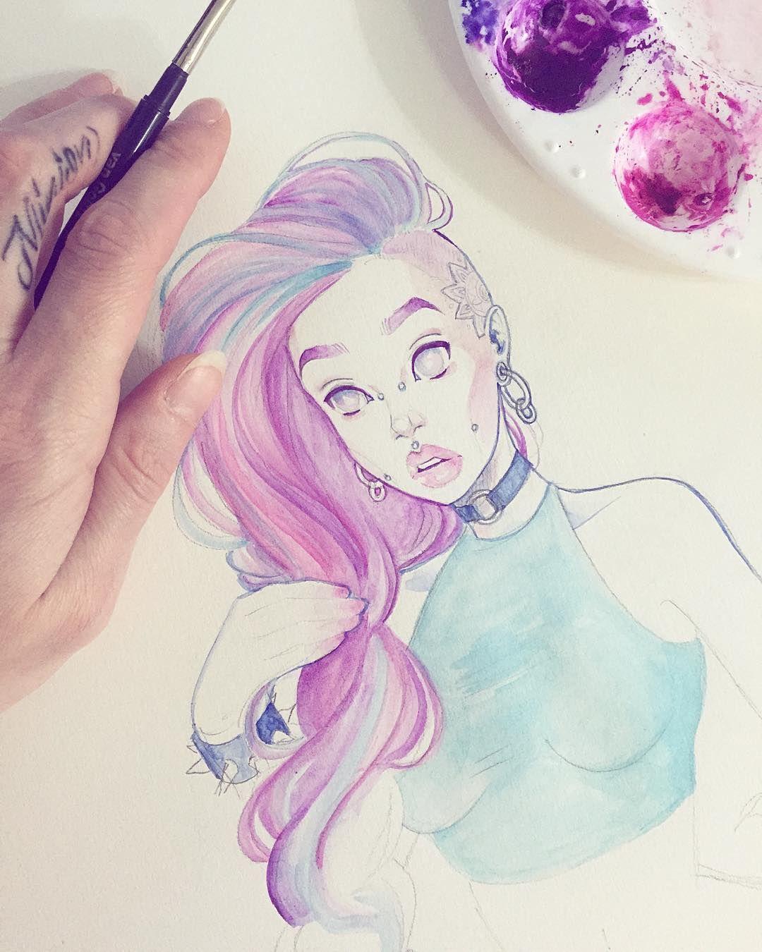Sunday #watercolor action  #wip #manga #graphicartery #artshare #artwork…