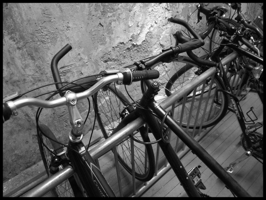 Bikes Parked Under The Old Building Where I Live In Downtown Atlanta With Images Bike Downtown Bike Parking