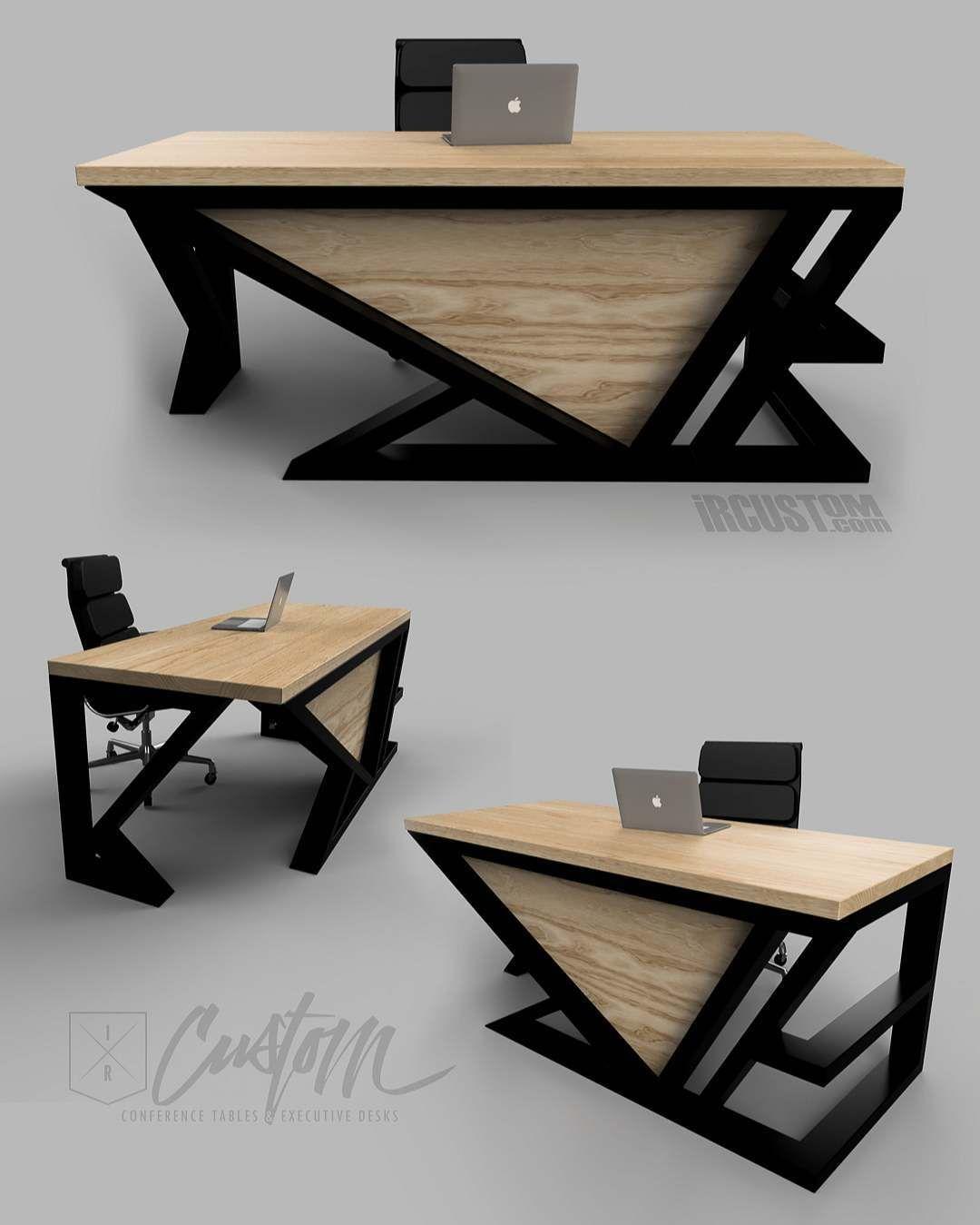 asymmetry custom contemporary executive desk dm email or call us rh pinterest ca
