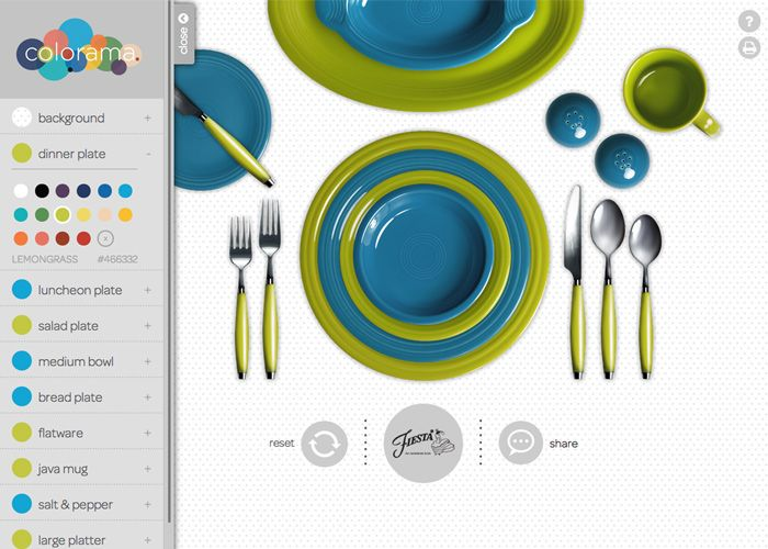 Colorama by Fiesta® is an interactive place setting tool, which ...