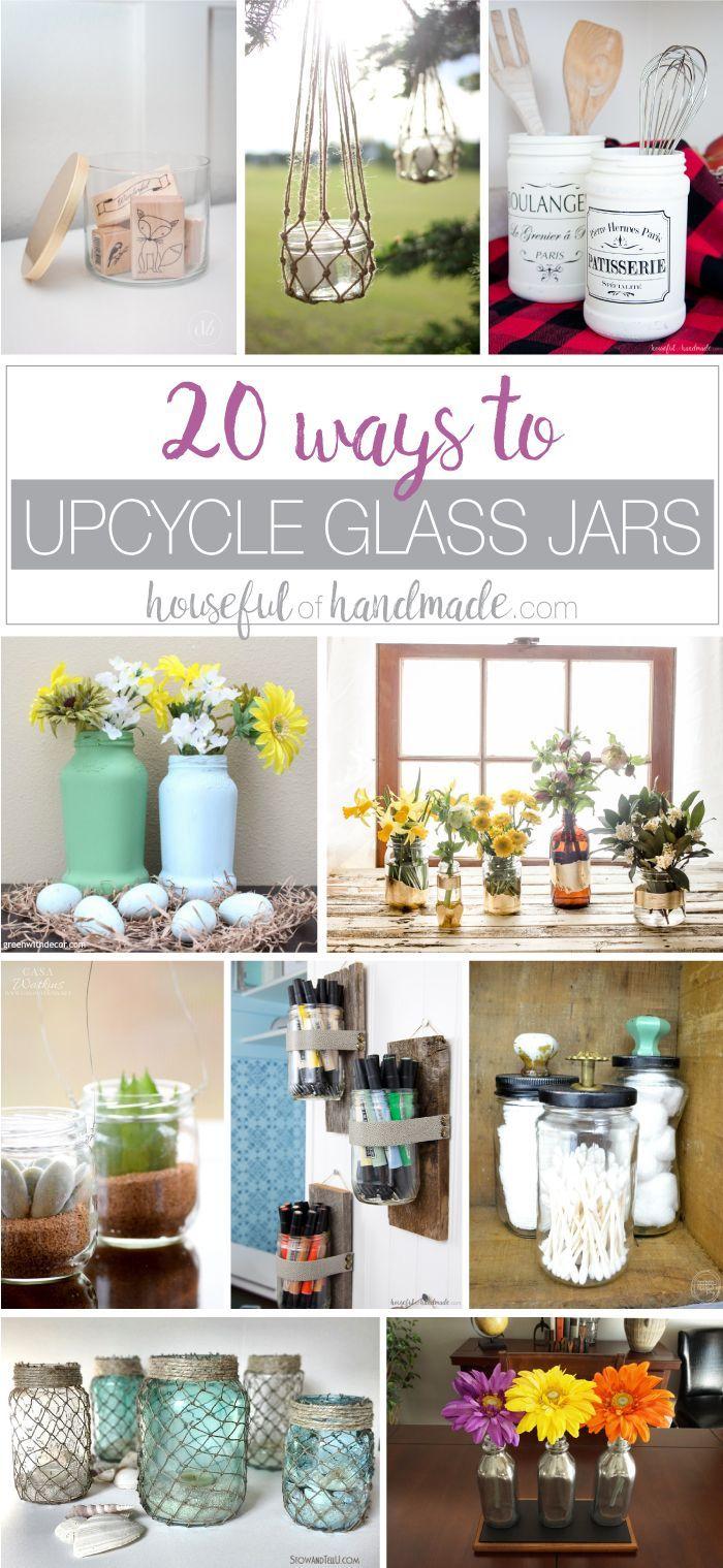 20 Ways to Upcycle Glass Jars u0026