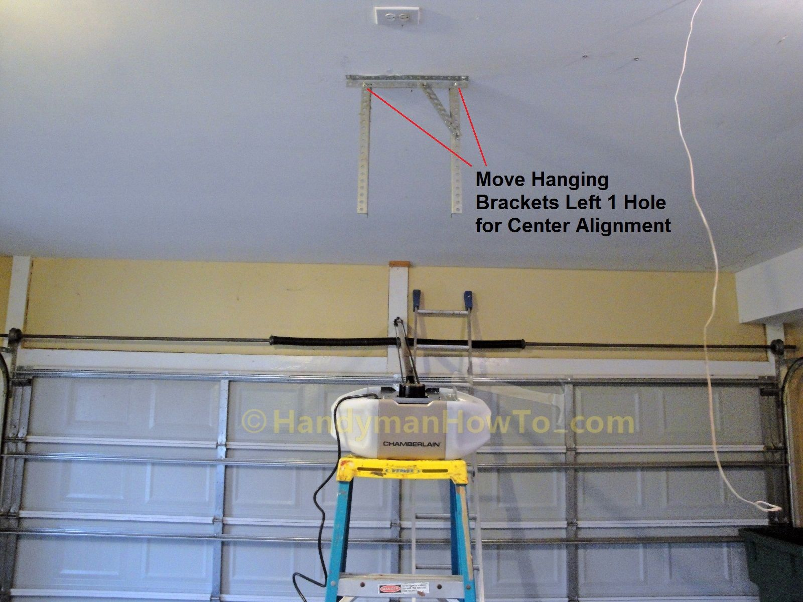 garage door opener hanger kit garage doors that are picking is one of the primary issues when likely to install a new or r - How To Install A Garage Door Opener