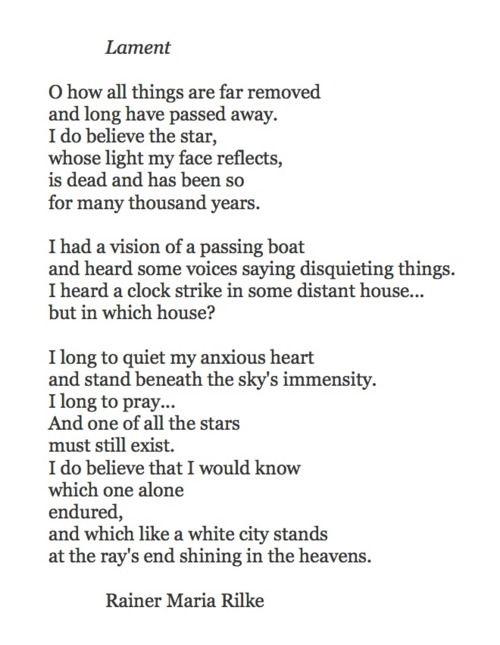 Gedichte rilke geduld