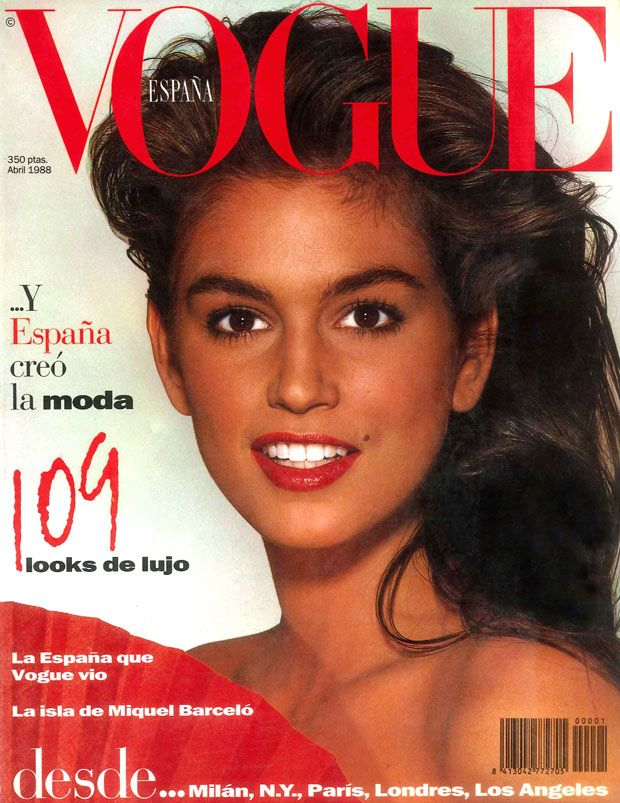 Abril 1988 Vogue Spain Cindy Crawford Vogue Covers