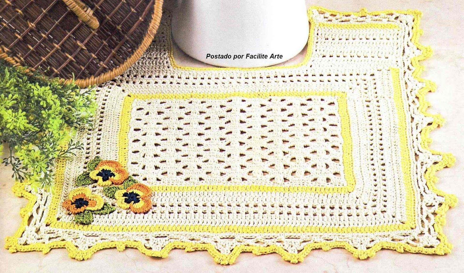 Pin de Ignazia Vella en Crochet Pattern | Pinterest | Tapetes, Baños ...