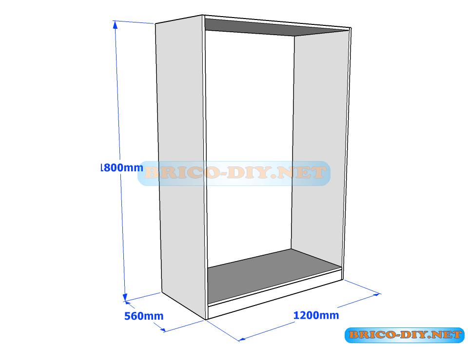 plano ropero melamina cajonera pinterest On planos closet melamina pdf