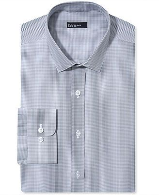 Bar III Dress Shirt, Slim-Fit Smoke Optic Check Long-Sleeved Shirt