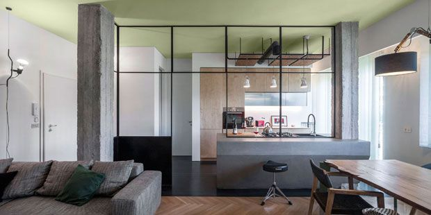 Lo spazio unico living-cucina dell\'appartamento Morrissey è ...