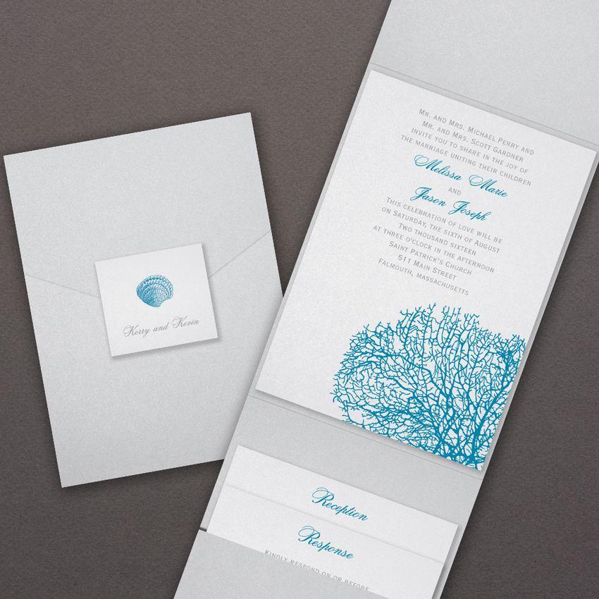 Beach wedding invitations for a destination wedding