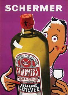 Пару постеров старой рекламы алкоголя. Женевер, боровичка, краневиттер, клековача Алкоголь,Крепкие напитки,Реклама
