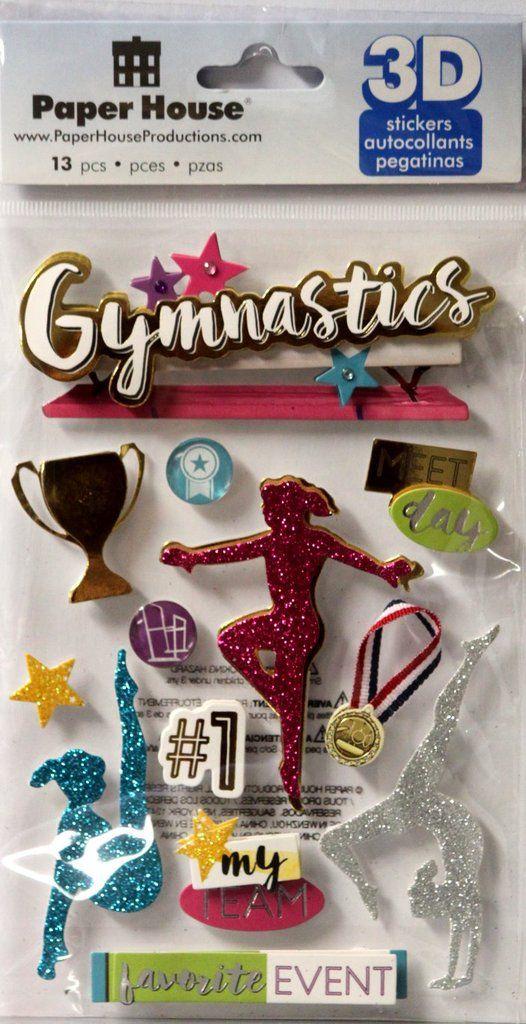 Paper House 3d Dimensional Gymnastics Stickers Scrapbook Supplies