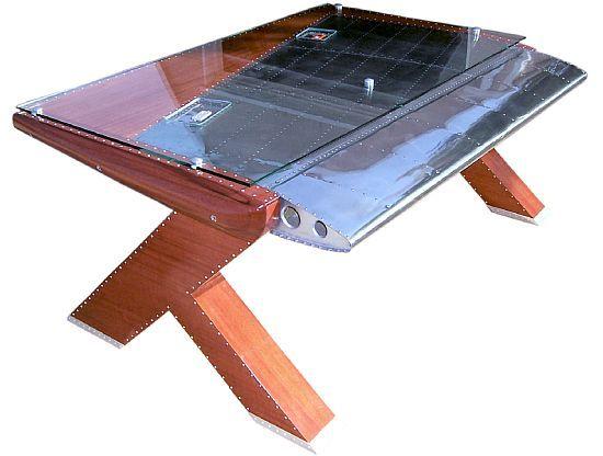 aluminium table amazing aircraft furniture aviation furniture rh pinterest com