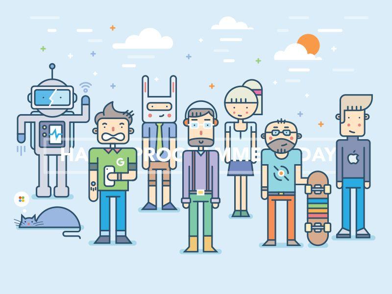 Happy Programmers' Day by Egor Kosten #zeeenapp