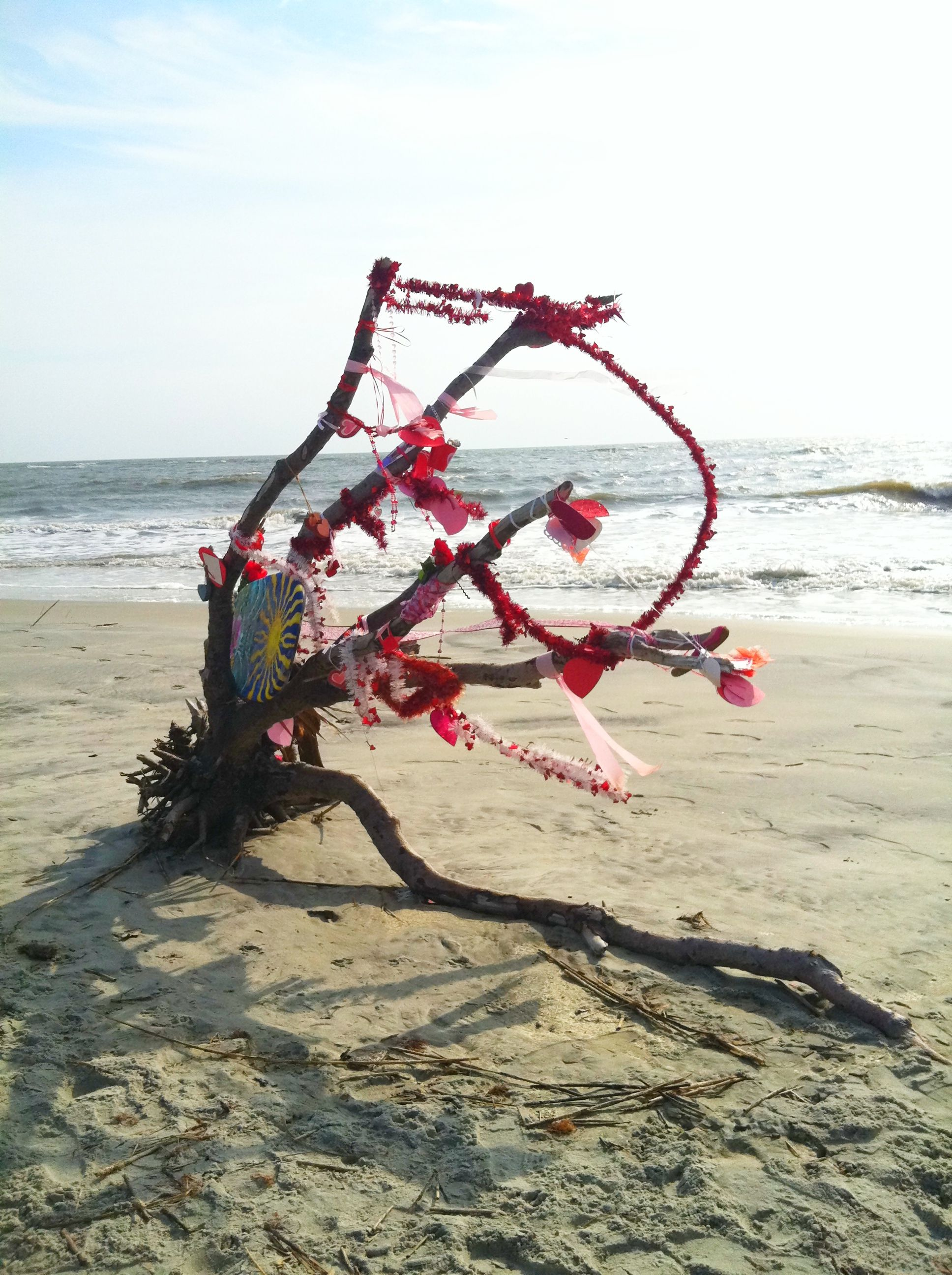 holiday driftwood tree on east beach st simons island ga www rh pinterest com