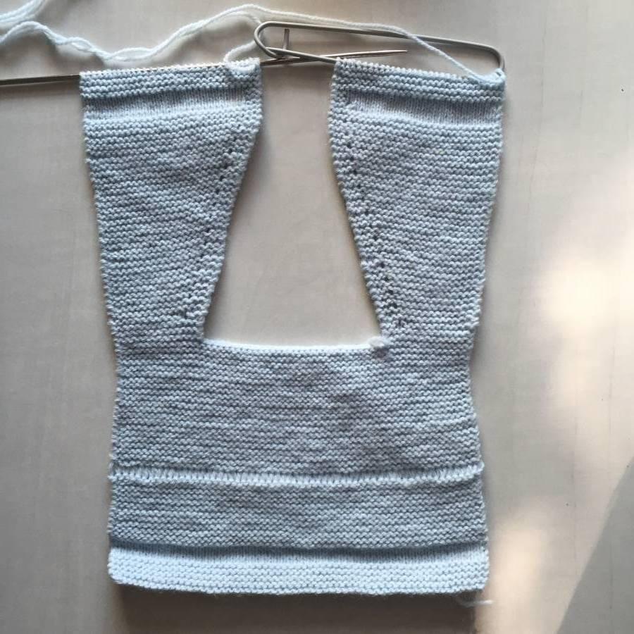 Cómo hacer una chaqueta sin costuras con punto de uña y vainica ... a42f7f47126