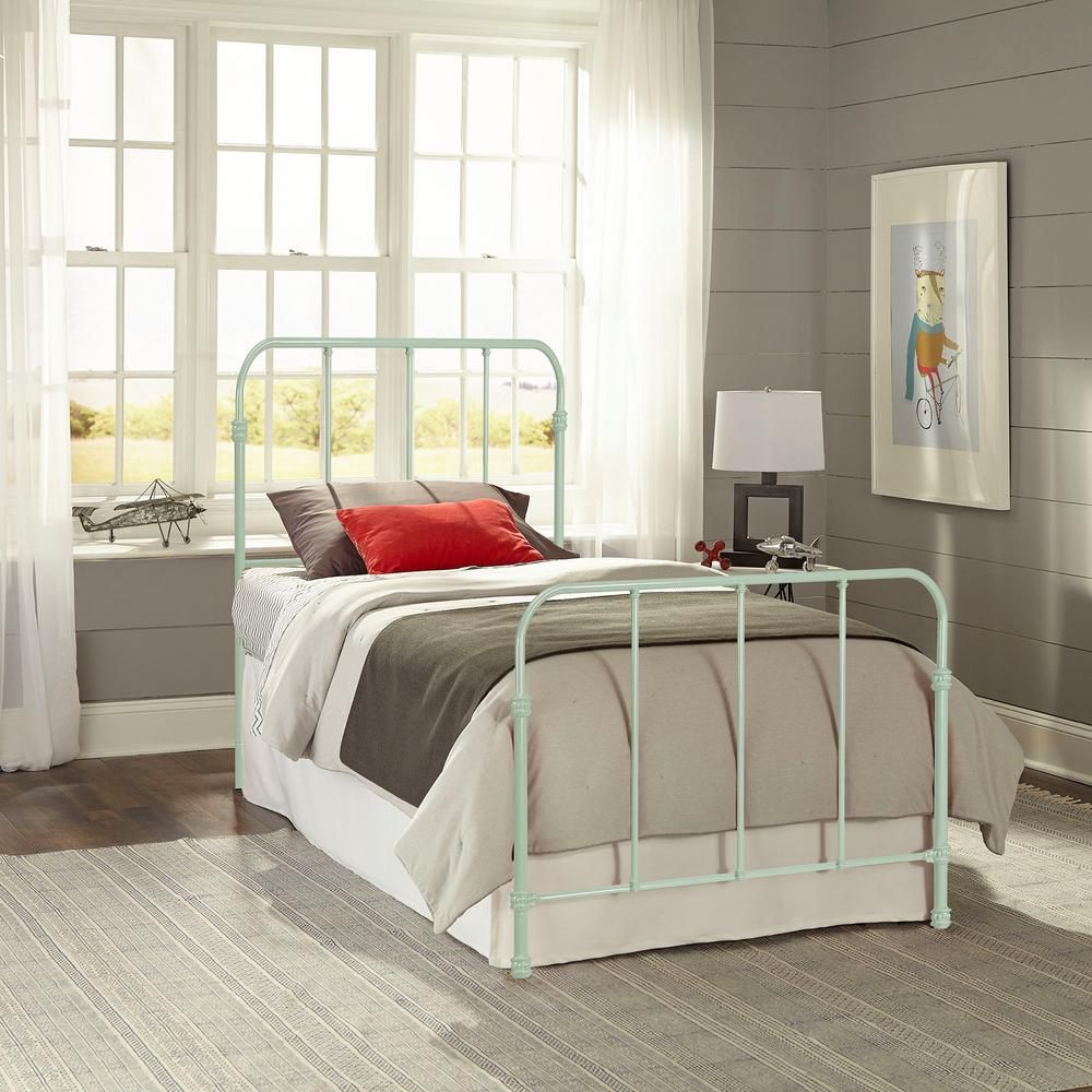 Fashion Bed Group Nolan Mint Green Full Headboard and