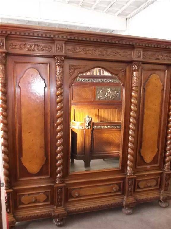 Bedroom Set With Armoire. Beautiful carved italian designer walnut antique bedroom set armoire  13it089a