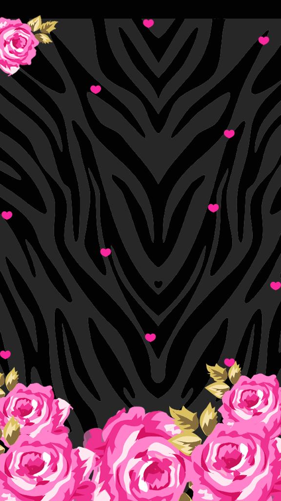 LOve Pink Pink Black Wallpaper(freebie) Pink and black
