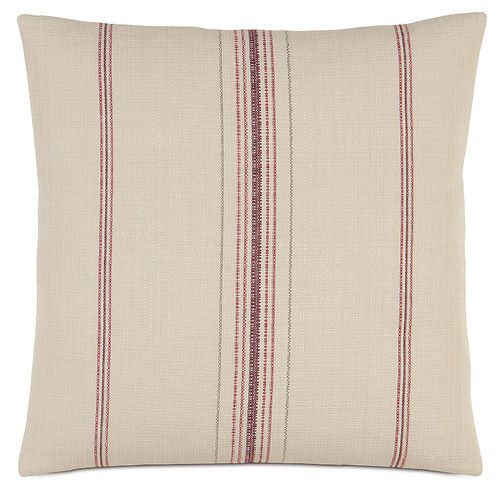 A feed sack pillow is casual and cozy. | $108