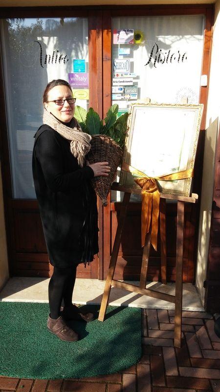 La Signora Lorella Rossi, titolare del #Ristorante #AnticoRistoro a #Sommacampagna #Custoza #Verona