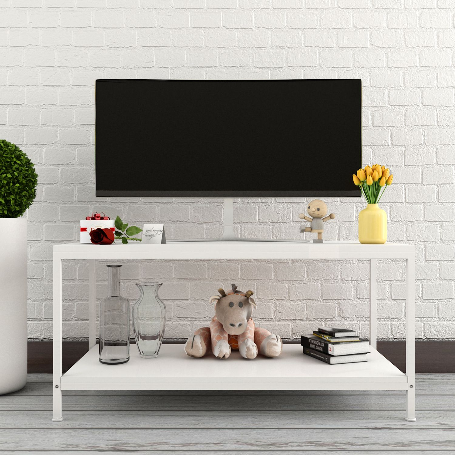 Lifewit Deluxe Rectangular Coffee Cocktail Table Tv Media Stand  # Table Tv Simple