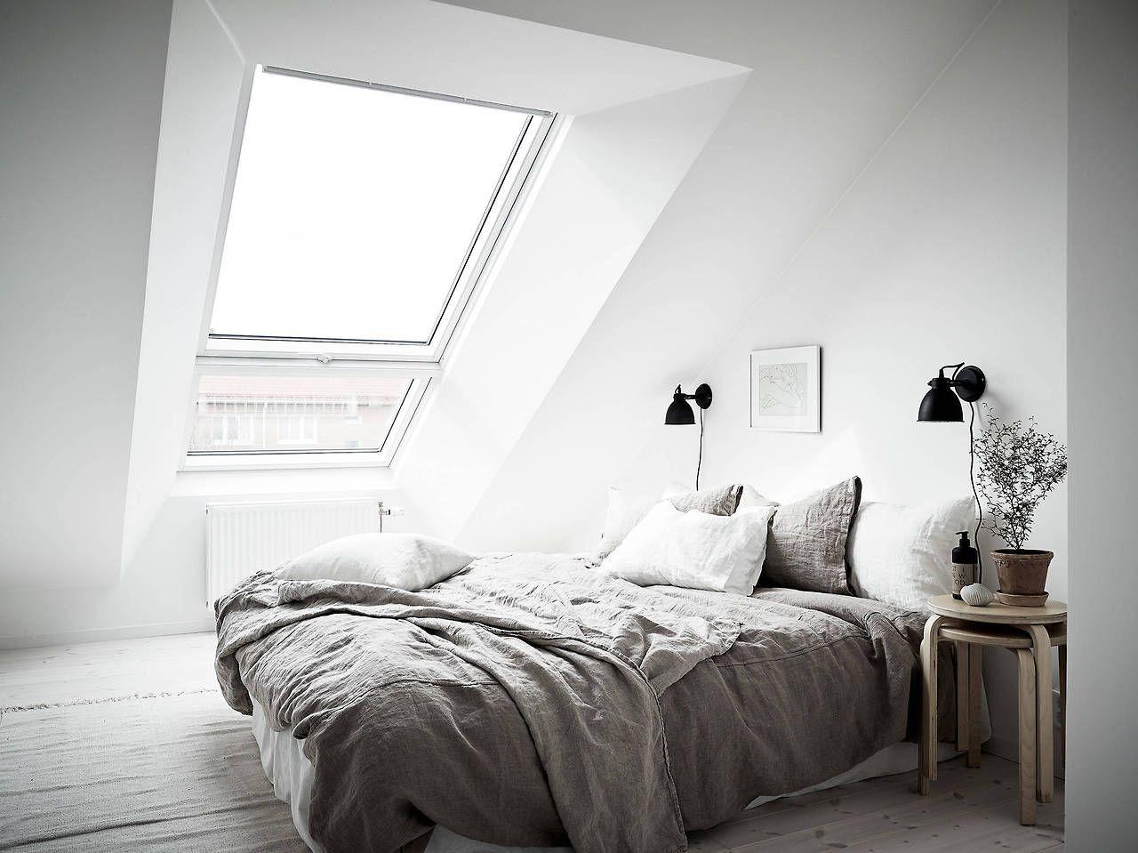 Bright attic bedroom Bright attic bedroom