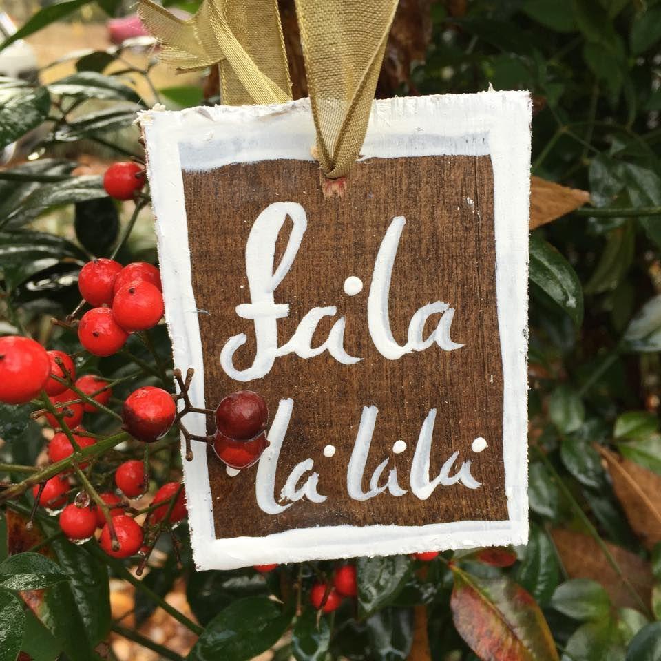 Louisiana Map Decor%0A Painted Wooden Ornament   fa la la la la   for    Days of Christmas Giveaway
