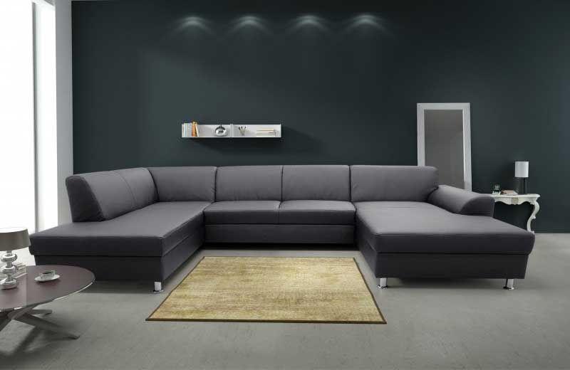 80 Hervorragend Leder Wohnlandschaft U Form Modern Couch Sofa