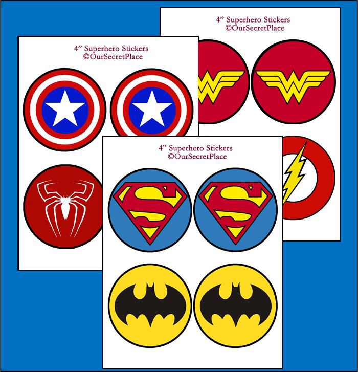 Instant download superhero logos superhero symbols superhero
