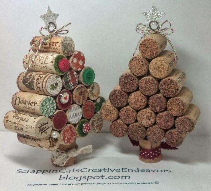 Wine Cork Christmas Crafts.Christmas Craft Wine Cork Christmas Trees Great